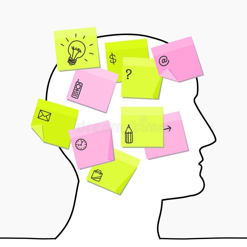 το κεφάλι σημειώνει κολ&l απεικόνιση αποθεμάτων