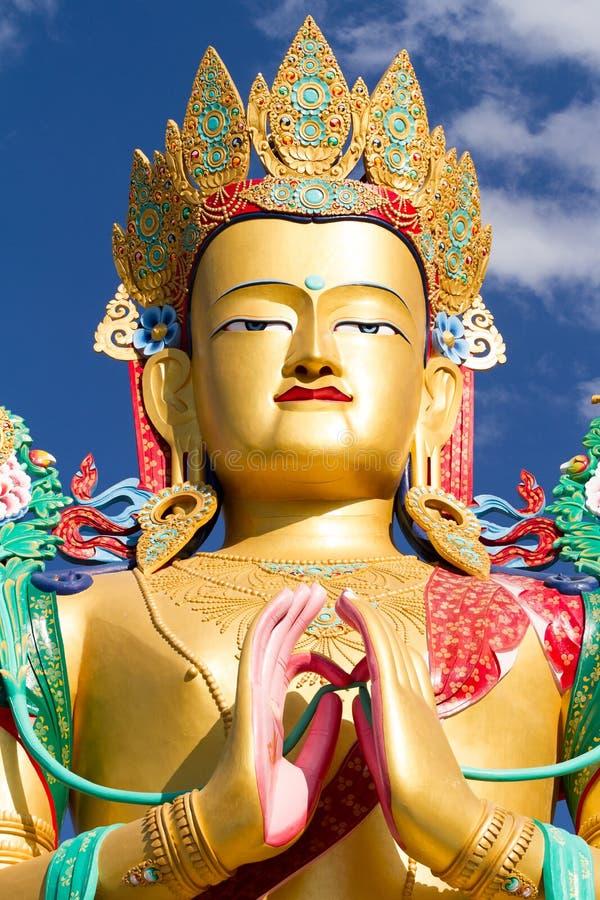 Το κεφάλι του αγάλματος του Βούδα Matreia στην κοιλάδα Nubra στοκ εικόνες