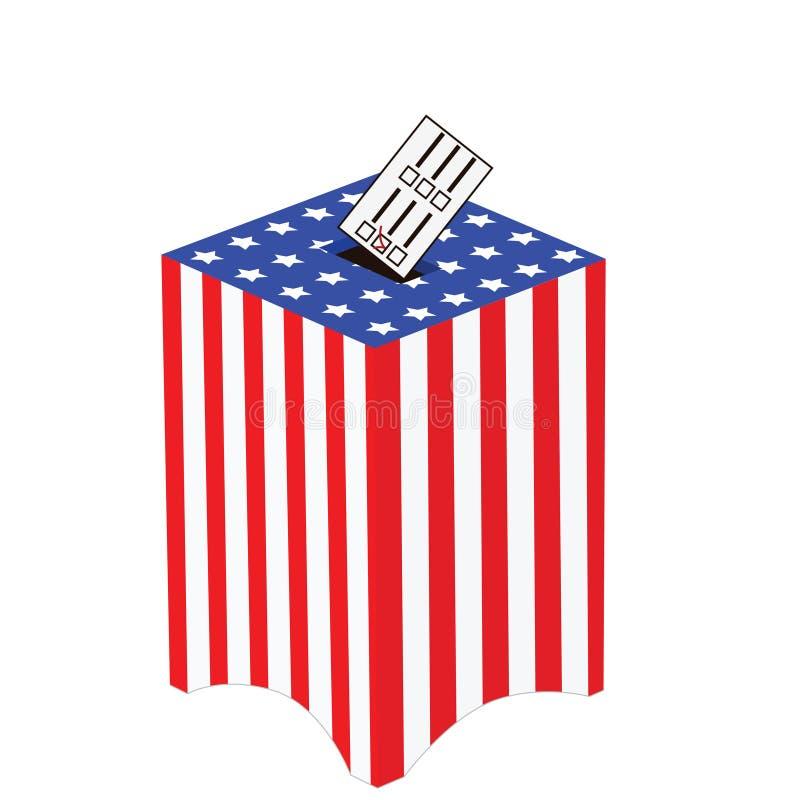 το κιβώτιο ψήφου δηλώνει ενωμένο ελεύθερη απεικόνιση δικαιώματος