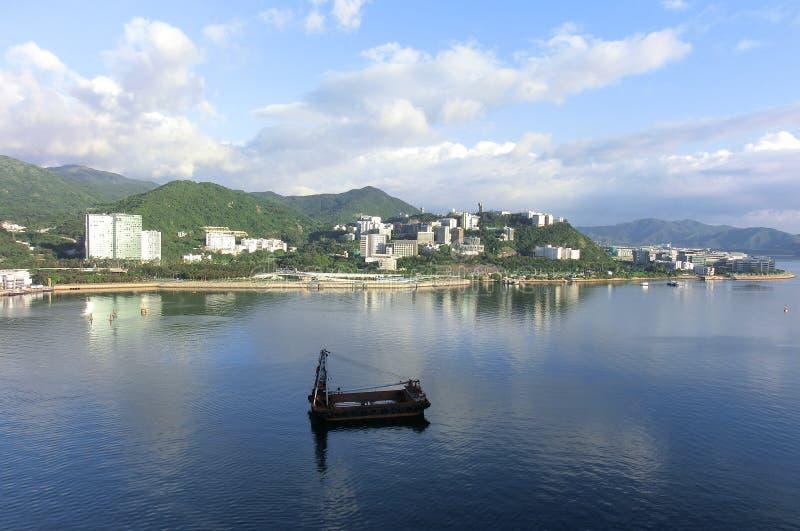 Το κινεζικό πανεπιστήμιο του Χονγκ Κονγκ από το μΑ στη Shan στοκ φωτογραφίες με δικαίωμα ελεύθερης χρήσης
