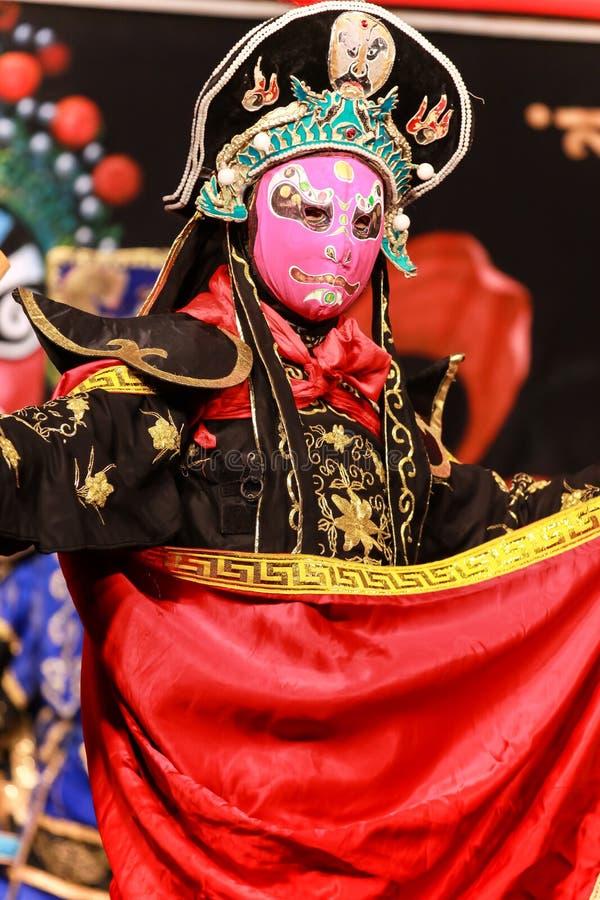 Το κινεζικό πρόσωπο που αλλάζει παρουσιάζει - Chengdu, Κίνα στοκ εικόνα