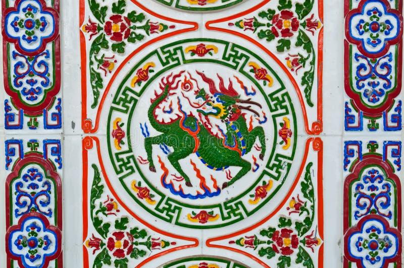 το κινεζικό ύφος κεραμών&epsilo στοκ εικόνα