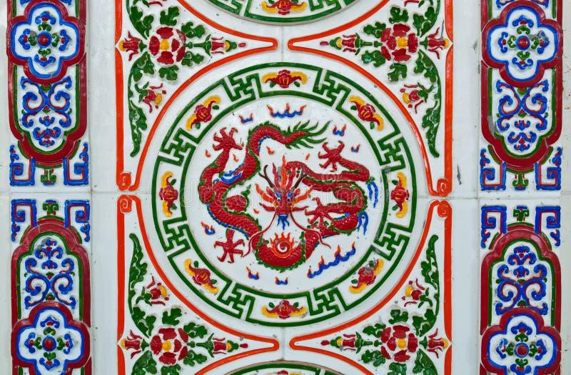 το κινεζικό ύφος κεραμών&epsilo στοκ φωτογραφία