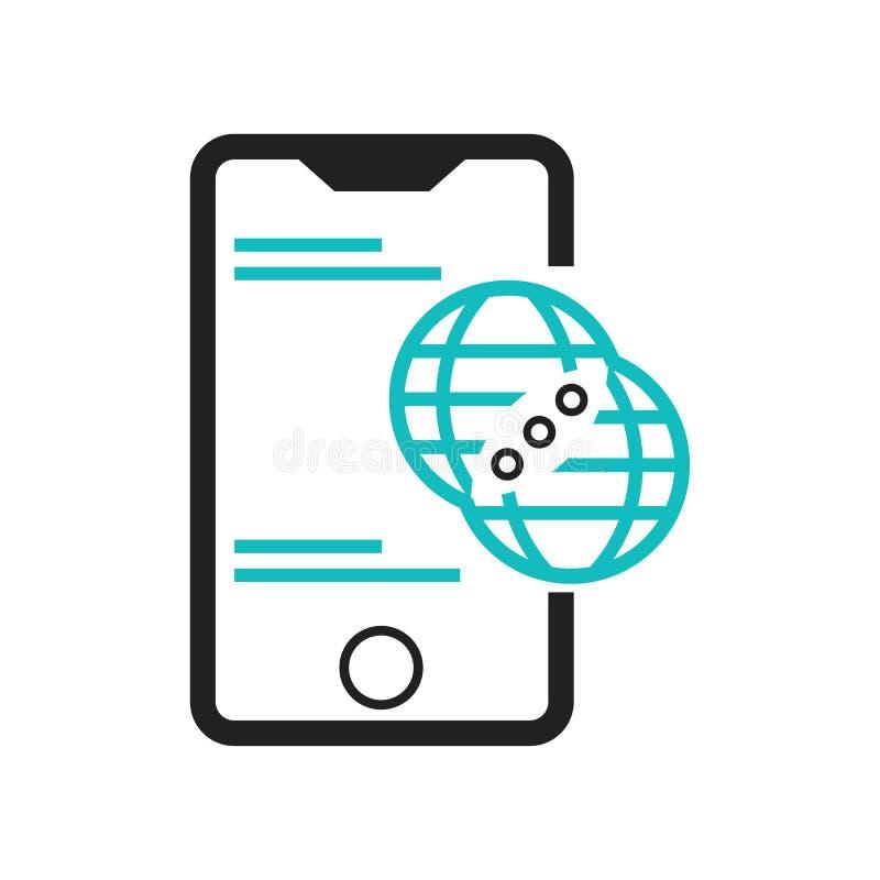Το κινητό τηλέφωνο σύνδεσε συνολικά το εικονίδιο συμβόλων διανυσματικά σημάδι και σύμβολο που απομονώθηκαν στο άσπρο υπόβαθρο, κι ελεύθερη απεικόνιση δικαιώματος