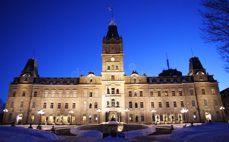 το Κοινοβούλιο Κεμπέκ πόλεων στοκ φωτογραφίες