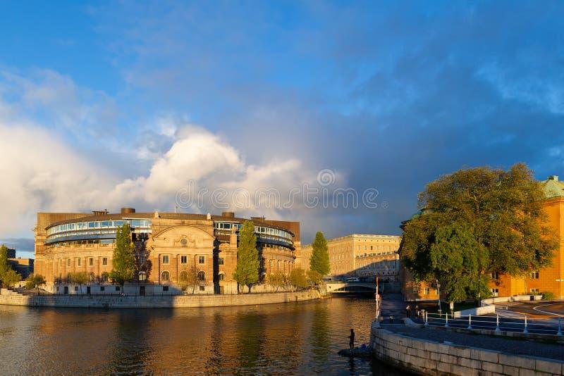 το Κοινοβούλιο Στοκχόλμη σπιτιών στοκ φωτογραφία με δικαίωμα ελεύθερης χρήσης