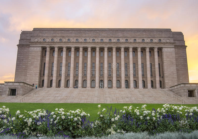 Το Κοινοβούλιο της Φινλανδίας, Ελσίνκι στοκ εικόνες