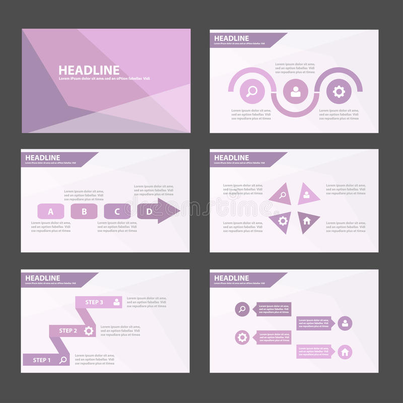 Το κομψό πορφυρό μπλε infographic επίπεδο σχέδιο προτύπων παρουσίασης στοιχείων και εικονιδίων έθεσε για τον ιστοχώρο φυλλάδιων ι διανυσματική απεικόνιση