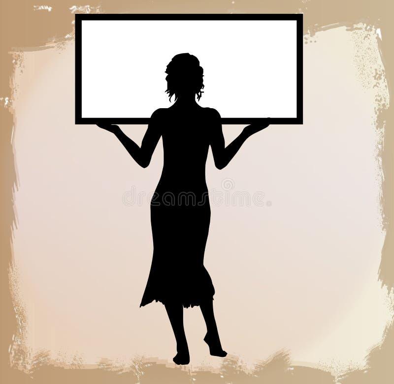το κορίτσι έχει το κείμενο δωματίων εικόνας whiteboard ελεύθερη απεικόνιση δικαιώματος