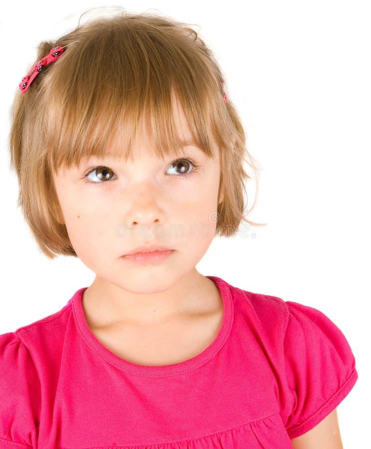 το κορίτσι απομόνωσε λίγ&alph στοκ φωτογραφίες