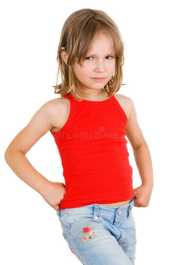 το κορίτσι απομόνωσε λίγ&alph στοκ φωτογραφία