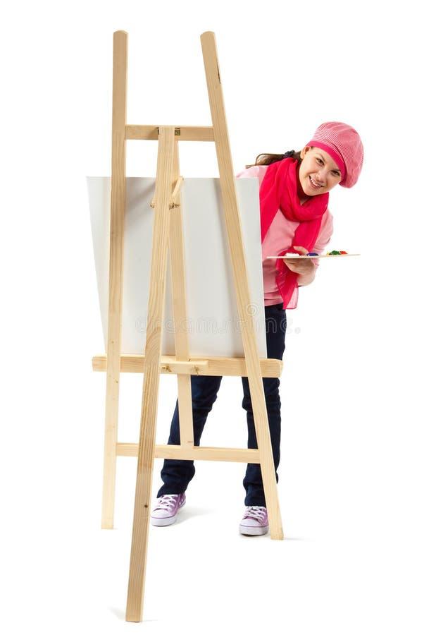 Το κορίτσι είναι νέος καλλιτέχνης στοκ εικόνες με δικαίωμα ελεύθερης χρήσης