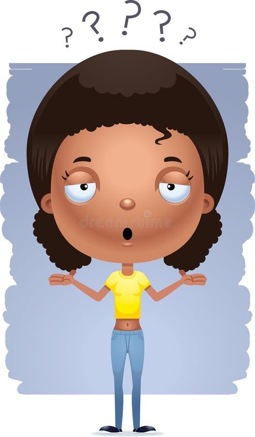 Το κορίτσι εφήβων κινούμενων σχεδίων απαξιεί απεικόνιση αποθεμάτων