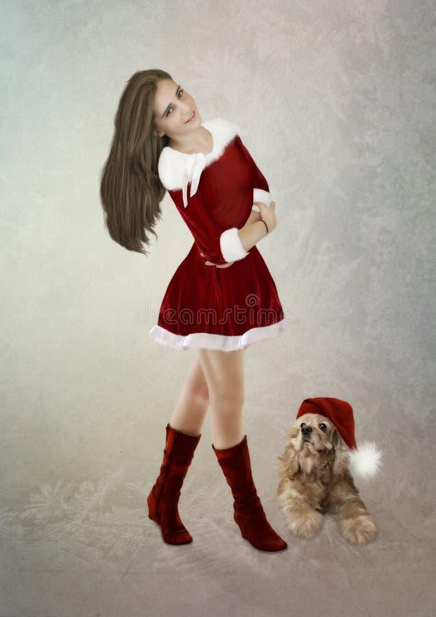 Το κορίτσι και το σκυλί στοκ φωτογραφίες με δικαίωμα ελεύθερης χρήσης
