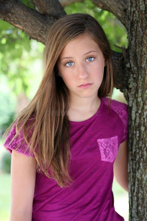 το κορίτσι λυπημένος στοκ φωτογραφία