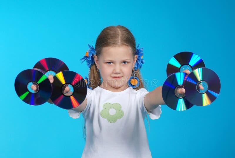 το κορίτσι Cd κρατά στοκ εικόνες με δικαίωμα ελεύθερης χρήσης