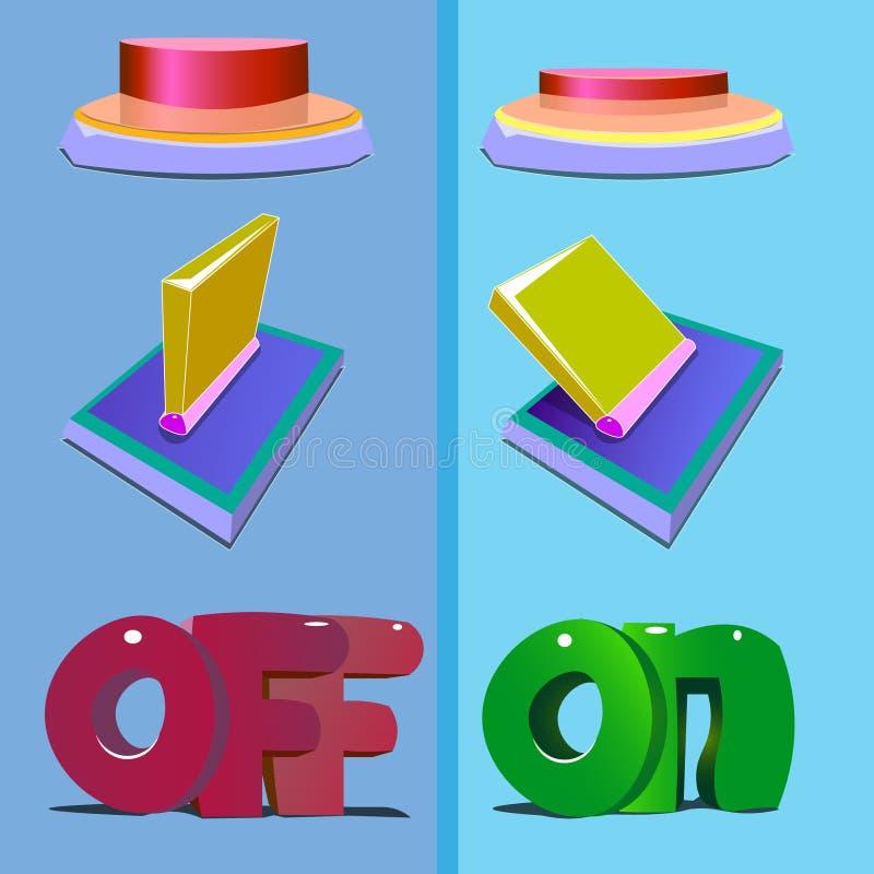 Το κουμπί απεικονίζεται σε δύο στάδια της συμπίεσης απεικόνιση αποθεμάτων