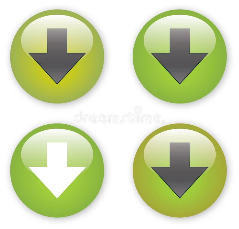 το κουμπί βελών μεταφορτώ& ελεύθερη απεικόνιση δικαιώματος