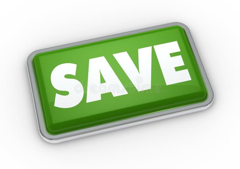 το κουμπί σώζει ελεύθερη απεικόνιση δικαιώματος