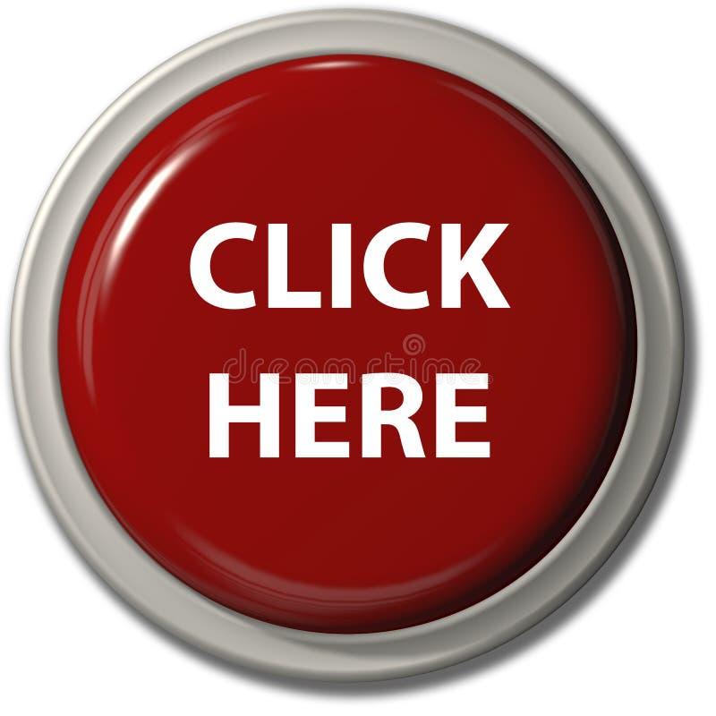 το κουμπί χτυπά την κόκκινη σκιά απελευθέρωσης εδώ ελεύθερη απεικόνιση δικαιώματος