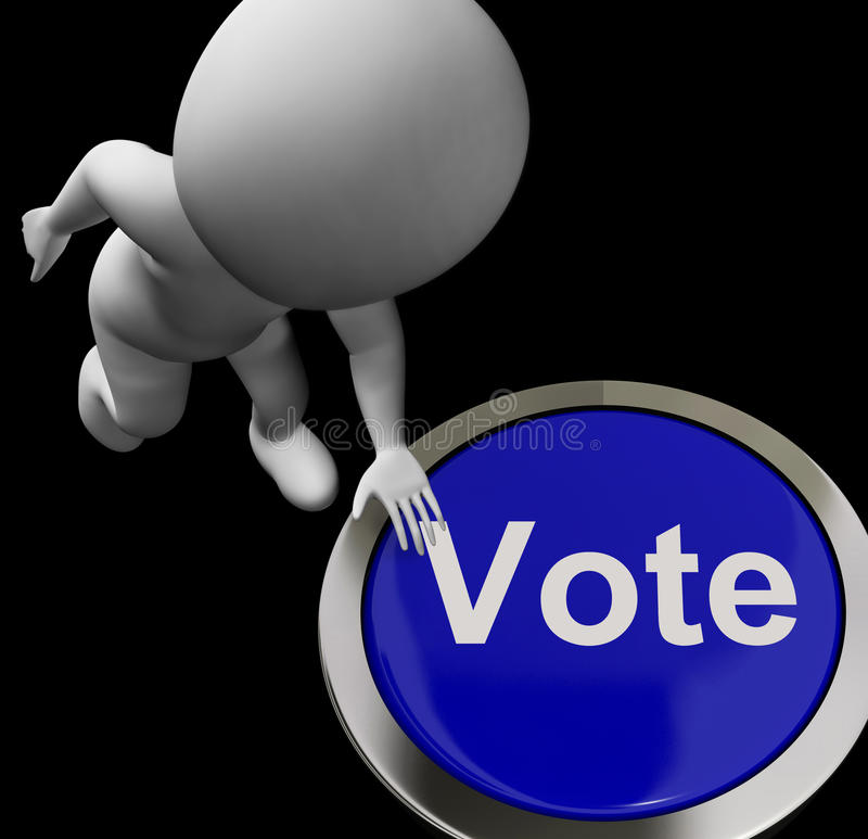 Το κουμπί ψηφοφορίας παρουσιάζει την εκλογή ή επιλογή ψηφοφορίας απεικόνιση αποθεμάτων