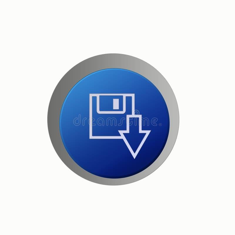 το κουμπί aqua σώζει διανυσματική απεικόνιση