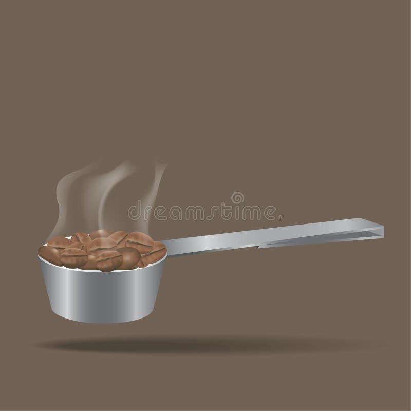 Το κουτάλι για τα φασόλια καφέ στοκ εικόνες με δικαίωμα ελεύθερης χρήσης