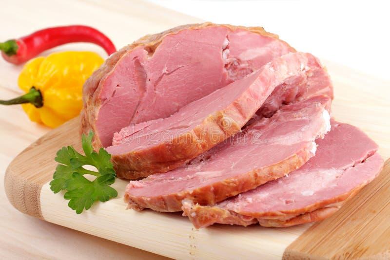 το κρέας τεμάχισε καπνισμ στοκ εικόνα με δικαίωμα ελεύθερης χρήσης