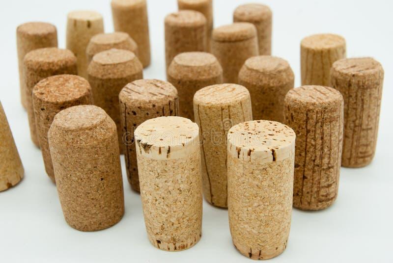 Το κρασί βουλώνει απομονωμένος στο λευκό στοκ φωτογραφία με δικαίωμα ελεύθερης χρήσης