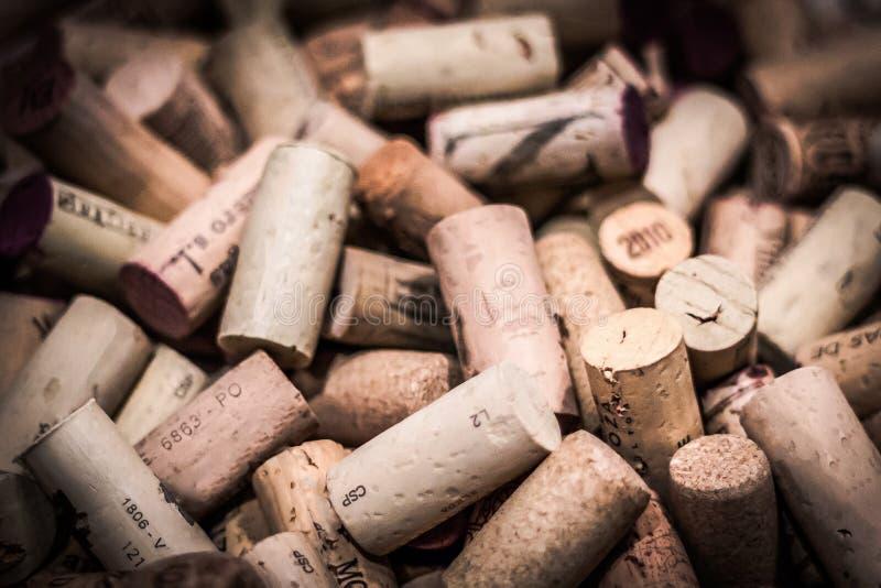 Το κρασί βουλώνει στοκ εικόνες με δικαίωμα ελεύθερης χρήσης