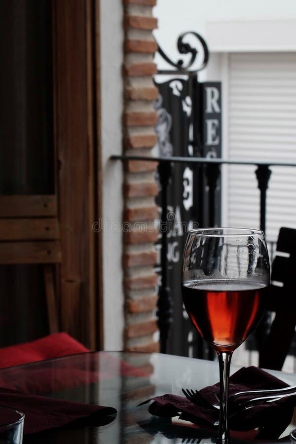 Το κρασί Mijas, Ισπανία στοκ εικόνες