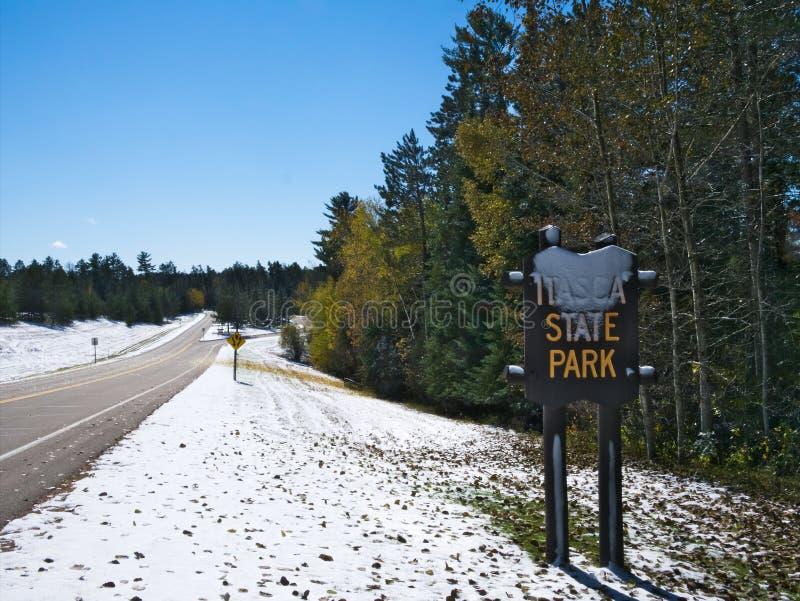 Το κρατικό πάρκο Itasca σε Μινεσότα, ΗΠΑ είναι πηγή ποτάμι Μισισιπή στοκ εικόνες