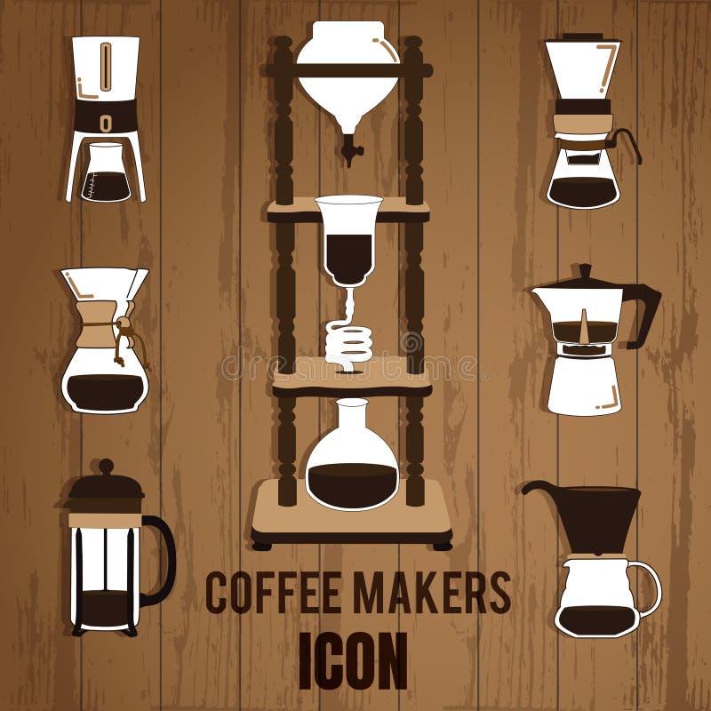 Το κρύο παρασκευάζει τους κατασκευαστές καφέ στοκ εικόνες