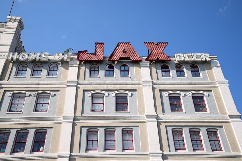 Το κτήριο μπύρας Jax στοκ φωτογραφία με δικαίωμα ελεύθερης χρήσης
