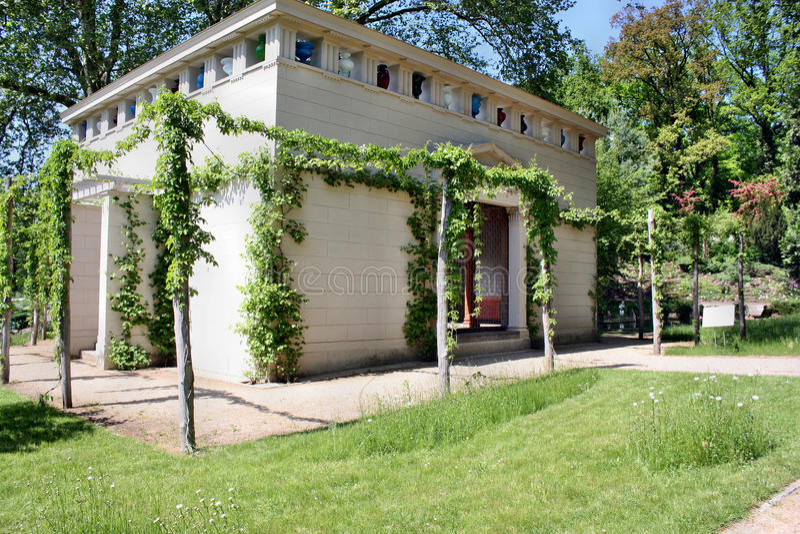 Το κτήριο στο πάρκο Sanssouci, Πότσνταμ κοντά στο Βερολίνο, Γερμανία στοκ φωτογραφία με δικαίωμα ελεύθερης χρήσης