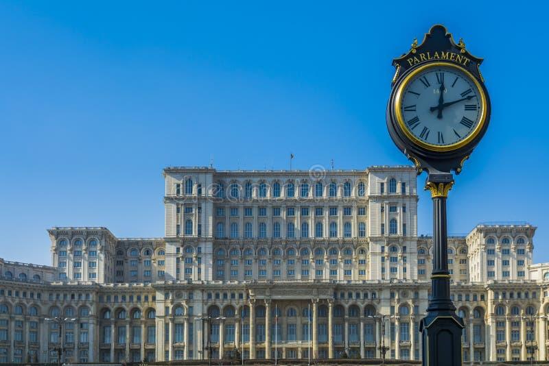 Το κτήριο του Κοινοβουλίου στο Βουκουρέστι Ρουμανία κάλεσε επίσης Casa Poporulu στοκ εικόνες με δικαίωμα ελεύθερης χρήσης