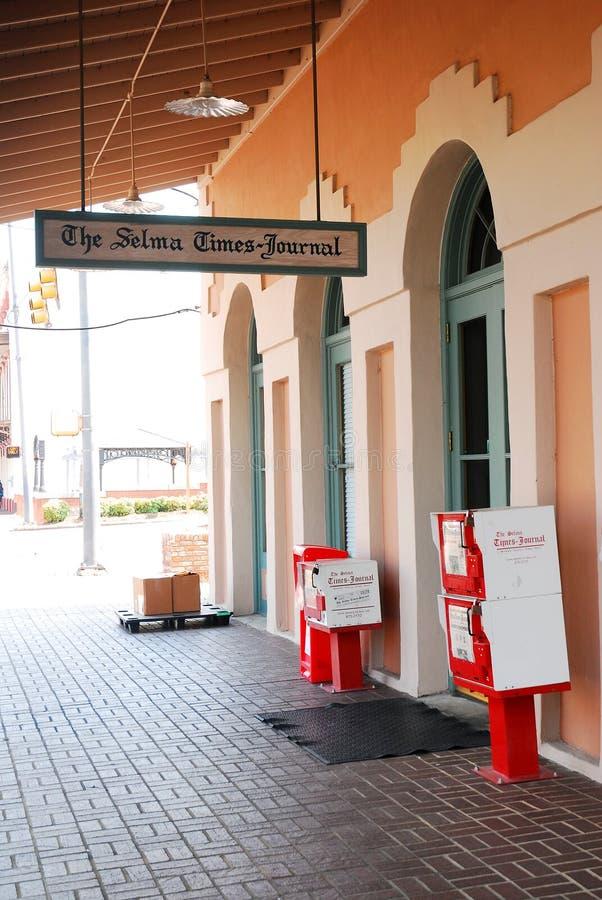 Το κτήριο χρονικών περιοδικών Selma, Selma, Αλαμπάμα στοκ εικόνα με δικαίωμα ελεύθερης χρήσης