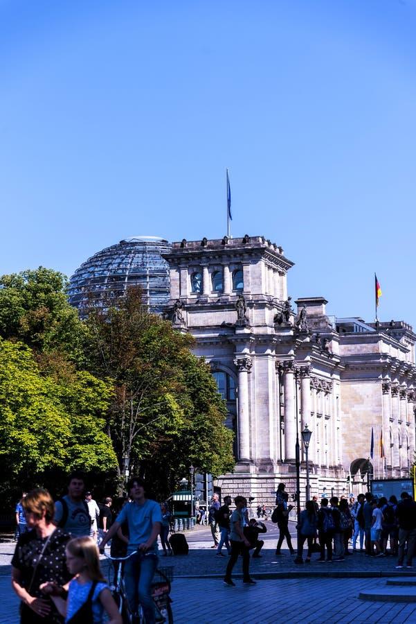 Το κτήριο Reichstag στο Βερολίνο Γερμανία στοκ εικόνες με δικαίωμα ελεύθερης χρήσης