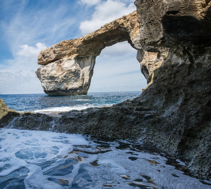 Το κυανό παράθυρο Gozo, Μάλτα στοκ εικόνα με δικαίωμα ελεύθερης χρήσης