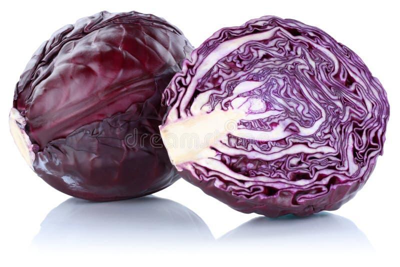 Το κόκκινο λάχανο τεμάχισε το λαχανικό που απομονώθηκε στοκ φωτογραφία