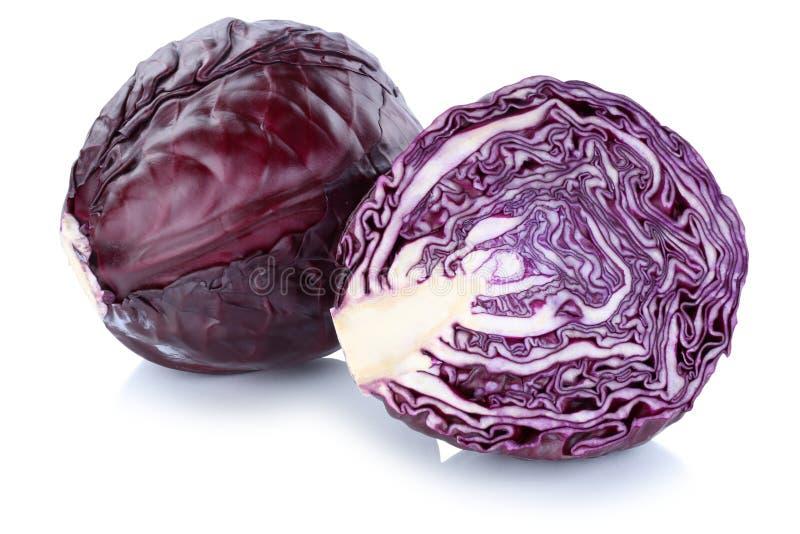 Το κόκκινο λάχανο τεμάχισε το φρέσκο λαχανικό που απομονώθηκε στοκ εικόνες