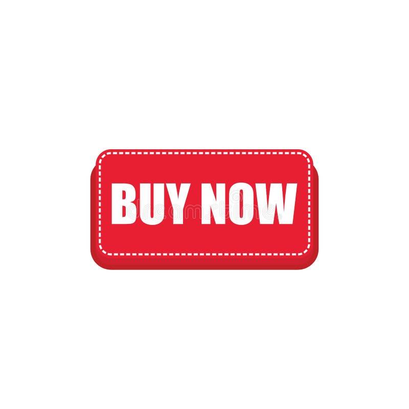 Το κόκκινο ΑΓΟΡΑΖΕΙ τώρα το κουμπί για το σχέδιο καταστημάτων Ιστού το κόκκινο αγοράζει τώρα το κουμπί διανυσματικό eps10 διανυσματική απεικόνιση