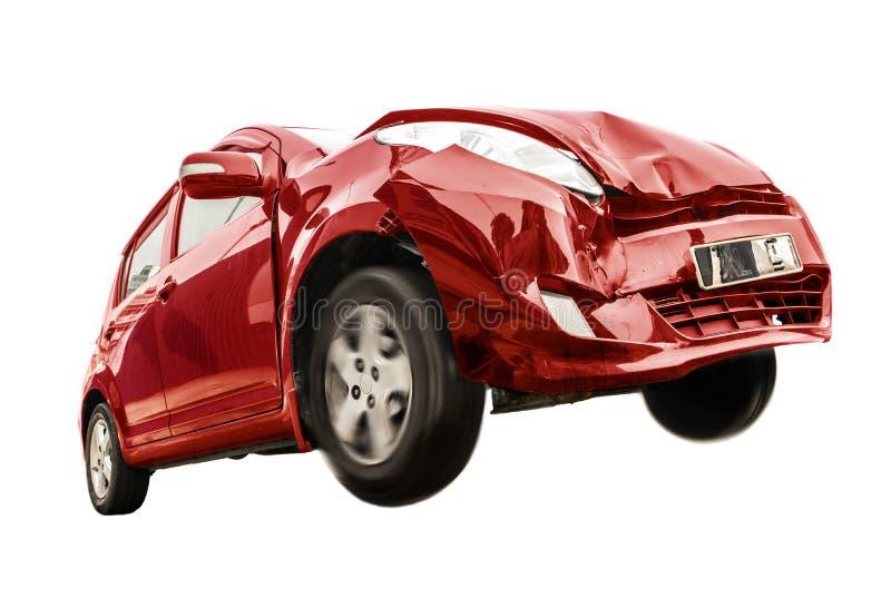 Το κόκκινο αυτοκίνητο έχει βλάψει το μέτωπο στοκ εικόνες με δικαίωμα ελεύθερης χρήσης