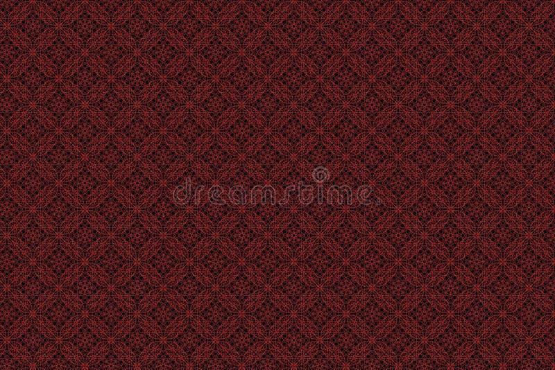 Το κόκκινο και μαύρο σχέδιο έργου τέχνης απεικόνισης τετραγώνων μοιάζει με τα υφάσματα ή ντύνει το απόθεμα υποβάθρου ταπετσαριών  στοκ εικόνες