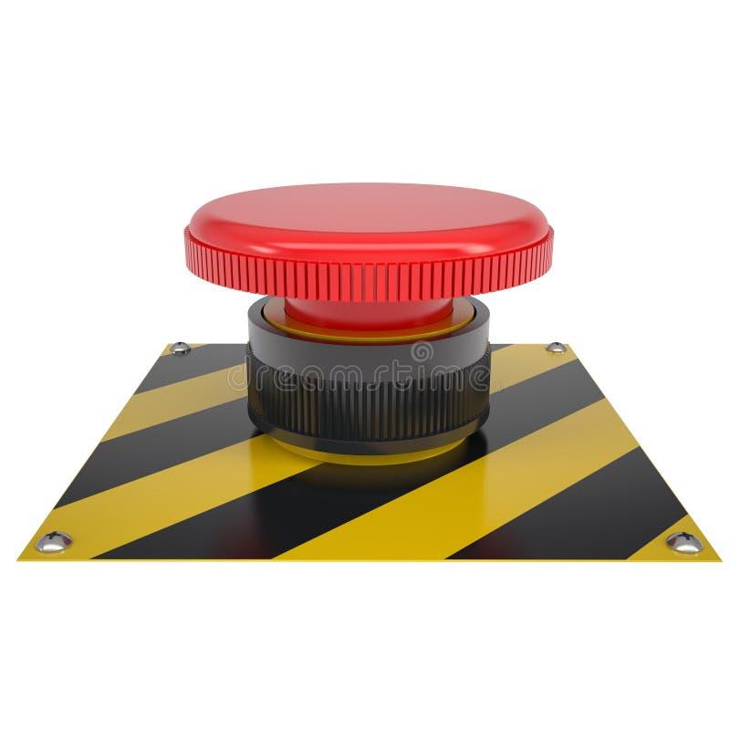 Το κόκκινο κουμπί στη βάση απεικόνιση αποθεμάτων