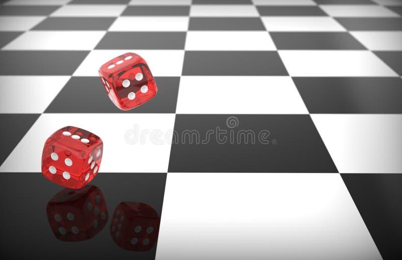 Το κόκκινο κυλίσματος χωρίζει σε τετράγωνα διανυσματική απεικόνιση