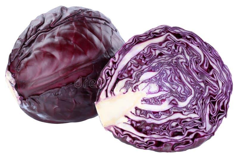 Το κόκκινο λάχανο τεμάχισε το φρέσκο λαχανικό τροφίμων που απομονώθηκε στοκ φωτογραφίες με δικαίωμα ελεύθερης χρήσης