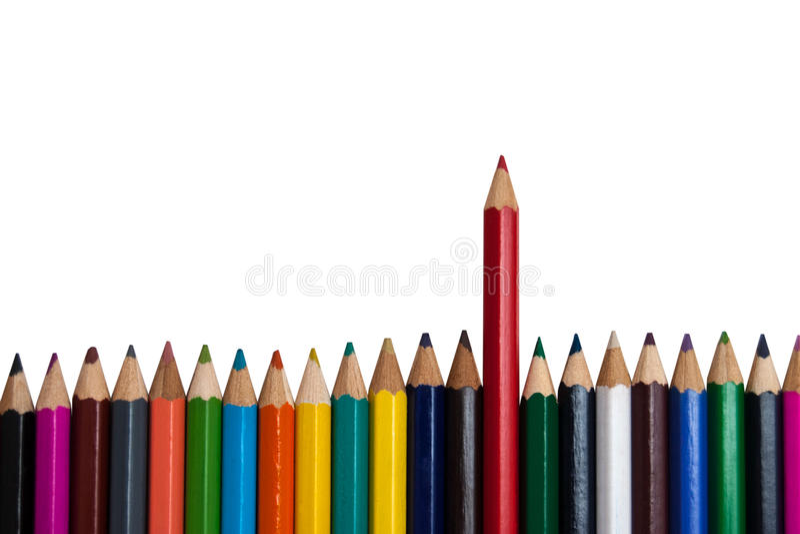 Το κόκκινο μολύβι στοκ φωτογραφίες με δικαίωμα ελεύθερης χρήσης