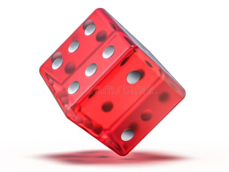Το κόκκινο παιχνίδι γυαλιού χωρίζει σε τετράγωνα απομονωμένος στο άσπρο υπόβαθρο τρισδιάστατος απεικόνιση αποθεμάτων