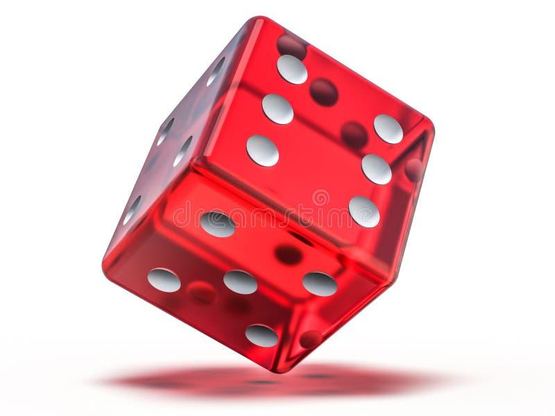 Το κόκκινο παιχνίδι γυαλιού χωρίζει σε τετράγωνα απομονωμένος στο άσπρο υπόβαθρο τρισδιάστατος ελεύθερη απεικόνιση δικαιώματος